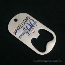 Abrebotellas personalizado de la forma de la etiqueta de perro con el logotipo modificado para requisitos particulares para el recuerdo / la promoción