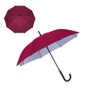 Cheap Silver Coated Custom Logo Promotional Auto Straight Umbrella with Bluk Price