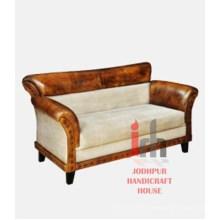 Sofá de tela de cuero