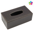 Boîte en tissu en cuir rectangulaire haut de gamme (ZJH072)