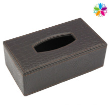 High-End Rectangle Leather Tissue Box (ZJH072)