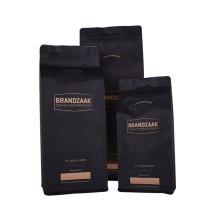 Kaffeebohnen-Verpackungsbeutel mit flachem Boden und Ventilreißverschluss
