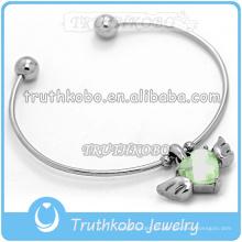 Pulsera de acero inoxidable al por mayor pulseras conmemorativas brazaletes pulsera magnética