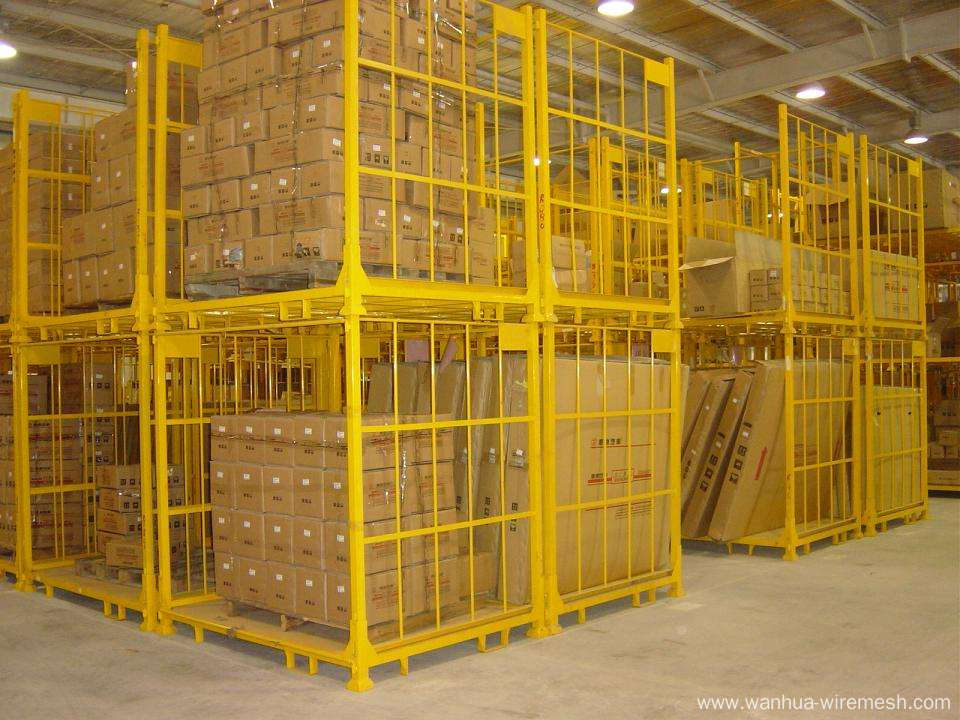 Stackable Storage Cage for warehouse