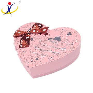 Подгонянный Цвет Роскошные Формы Сердца День Рождения Подарки Коробки Шоколада Упаковывая