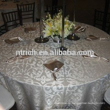 Hervorragende Polyester Taft Beflockung, Tischdecke, Tisch Overlay, Tischläufer für Hochzeiten
