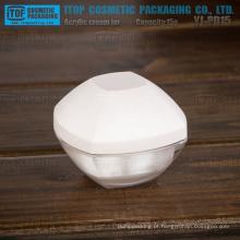 YJ-PD15 15g inovadoras boa qualidade acrílico camadas dobro 15g frasco plástico