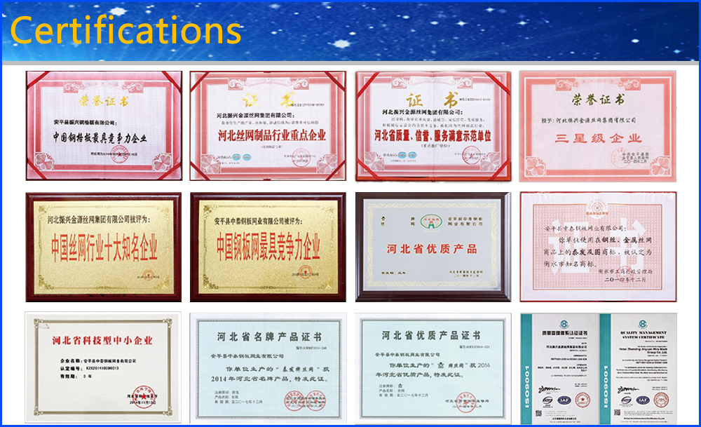 Floor Grates certifications
