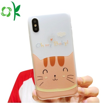 Cartoon Cat TPU mobiel hoesje voor Iphone 8 / X / XS