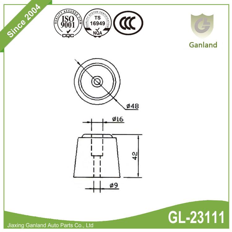 Rubber Door Buffer GL-23111