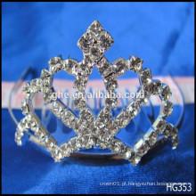 Tiara de rainha cheia para brincar de casamento Coroa de coroa dourada Coroa de ventilador de coroa