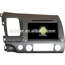 Android 4.4 Mirror-Link Glonass / GPS 1080P Dual-Core-Auto zentrale Multimedia für Honda alt Civic mit GPS / Bluetooth / TV / 3G