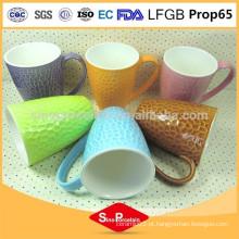 325 ml em forma de tambor cor-glazed New Bone China Copa favo de mel xícara de cerâmica
