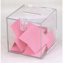 Clear Vote Box Acrylic Charity Collection Tins