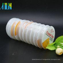 Alta Tenacidade Branco Claro Stretch Elastic Cordão De Cristal para Pulseira Com Muitos Tamanho Em Estoque Em Massa, ZYL0013