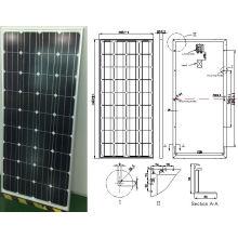 Módulo monocristalino de PV del panel solar de 18V 36V 145W 150W 155W 160W de la fábrica de ISO