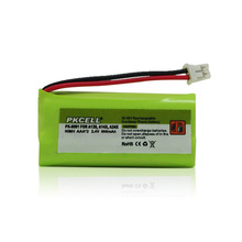 Bateria Ni-MH recarregável, AAA 2.4V 600mAh para telefone sem fio alibaba express