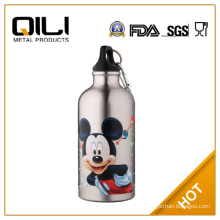 750ml customized reusable water bottle with rotating lid