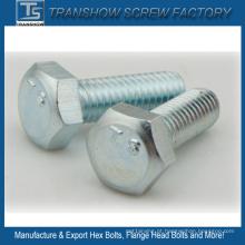 M3-M56 DIN933 DIN931 DIN558 DIN601 DIN960 padrão parafusos sextavados