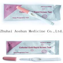 Test d'écran rapide en or colloïdal HCG Preganncy Test
