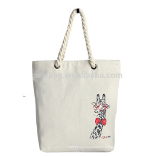 large recycled coated canvas rope handle canvas beach bag