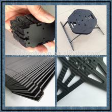 100% Kohlefaser Benutzerdefinierte CNC Quasi-isotrope 3K Kohlefaser Schneiden Racing Teile
