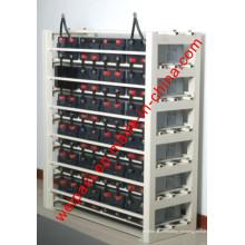 Baterias Moldura de aço Rack de bateria Rack de carga Serviço personalizado Suportes de montagem de bateria