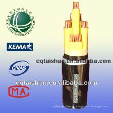 Grid del estado 0.6 / 1kv Cobre PVC aisló la vaina del PVC Cables y alambres de la energía