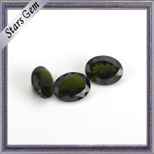 Pedra preciosa preciosa natural do diopside do verde esmeralda oval de 6X8mm