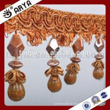 Vorhang Design Schmetterling und Kürbisse Perlen Fransen für Heimtextilien oder Tischlampe