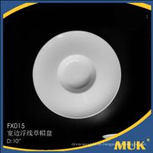 Productos nuevos porcelana cerámica placas redondas para restaurante