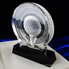 Haute qualité durable en utilisant pas cher divers trophée de cristal de ping-pong