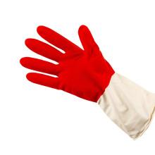 Guante de látex doméstico de limpieza de resistencia al calor de doble color