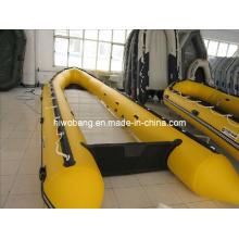 Barco inflável de resgate de 7,5 m de comprimento