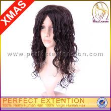 Lace Machine Long Length 100% pelucas rizadas del cabello humano