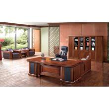 Bureau de direction en bois dur de luxe pour entreprise haut de gamme