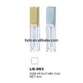 Récipients de tube de lipgloss clair de 4ml avec la brosse