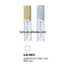 Recipientes de tubo de brillo de labios claros de 4 ml con pincel