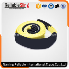 75mm 8000kg Durable Polyester 4WD Vehicle Safe Recovery Towing Strap