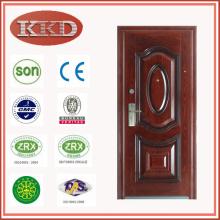 Residencial puerta de acero antirrobo KKD-337 para Egipto