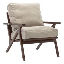 Modern Restaurant Single Seat Sofa Arm Wooden Chairs