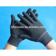 Gants de travail en polyester de calibre 13, gant de travail électrique sans poussière