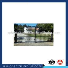Hot venda de alumínio deslizante design portão principal