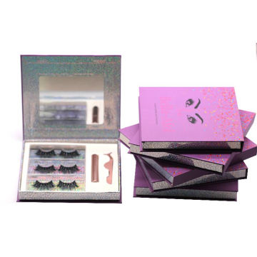 F176H Hitomi Wholesale Real Mink Eyelashes soft natural mink eyelashes Fluffy 25mm Magnetic Eyelashes with Eyeliner and tweezers