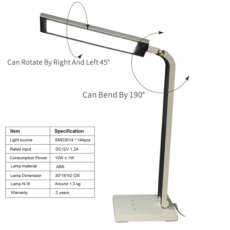 office table lamp with usb