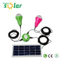 High lumen CE home solar lighting system with led lamps