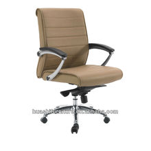 Brown Leather Executive Chair With Padded Arms