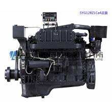 Главный двигатель. Судовой дизельный двигатель G128. Шанхайский дизельный двигатель Dongfeng. 267 кВт, 1500 об / мин