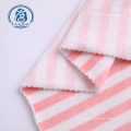Сверхмягкая эластичная бархатная ткань из полиэстера с принтом в полоску