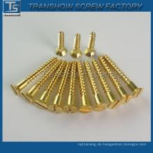 China Fabrik DIN7997 Messing Holzschraube